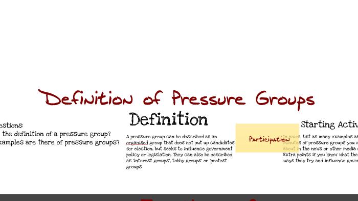pressure groups and interest groups