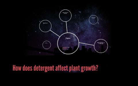 detergent affect plant growth