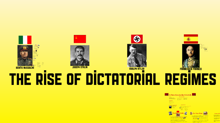 The Rise of Dictatorial Regimes by Mark Palmer on Prezi