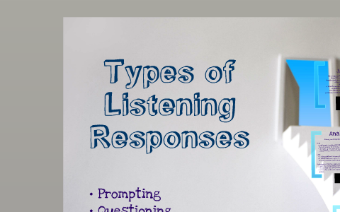 the types of listening