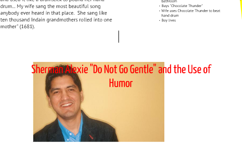 do not go gentle sherman alexie