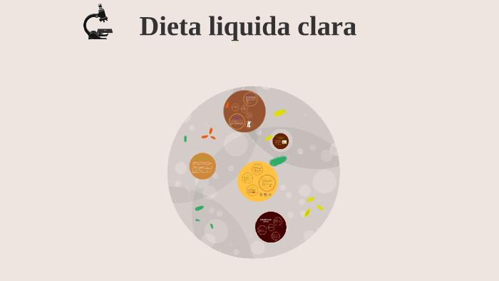 Menu dieta liquida completa hospitalaria