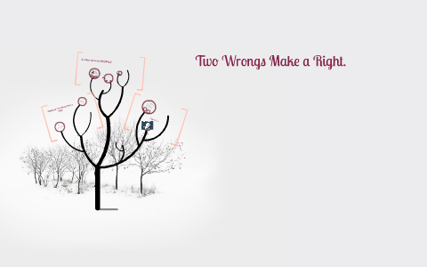 What does two wrongs don t make a right mean