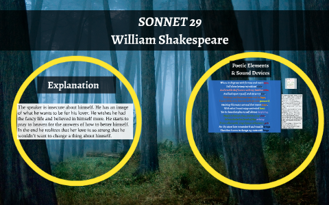 shakespeare sonnet 29 literary devices