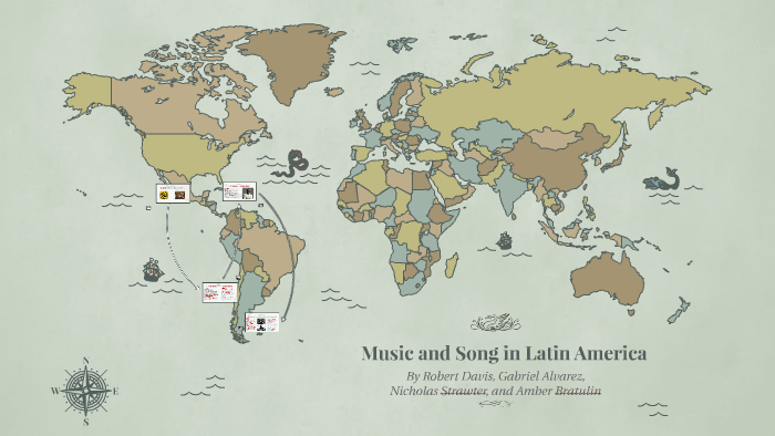 Latin America Map Song.Music And Song In Latin America By Amber Bratulin On Prezi