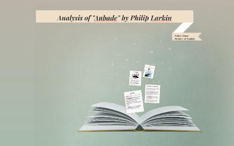 aubade philip larkin meaning