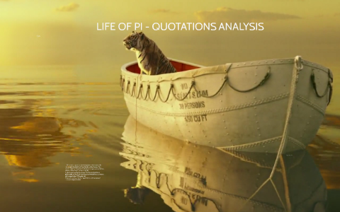 Life Of Pi Quotations Analysis By Andre Costa