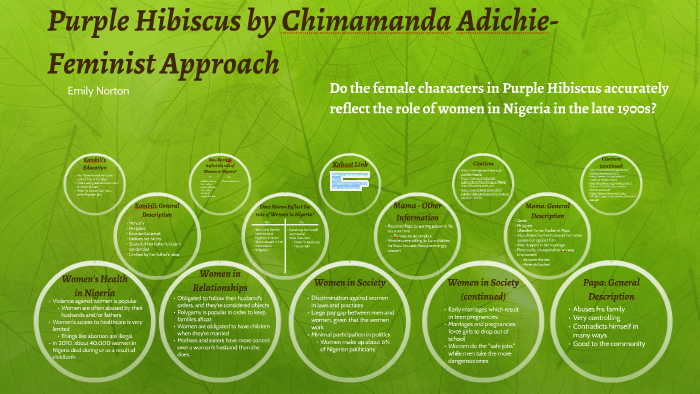 Purple Hibiscus Feminist Approach By Emily Norton On Prezi