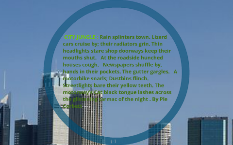 city jungle poem analysis