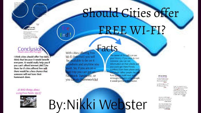 Should cities offer free wifi? by Nikki Webster on Prezi