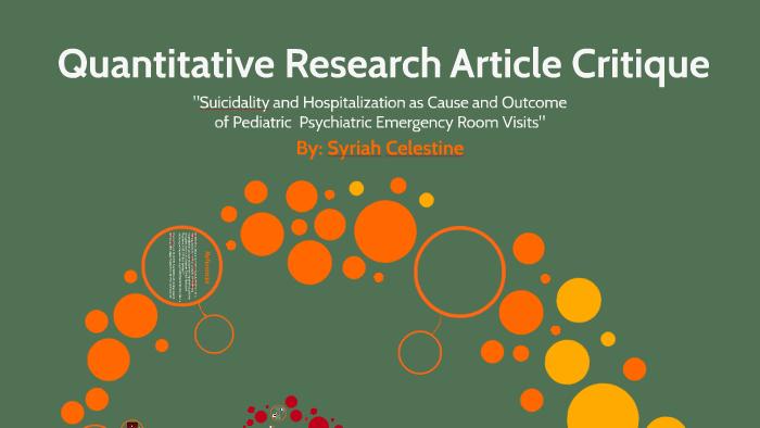 Research Article Critique by Syriah Celestine on Prezi