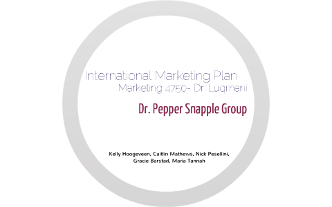 international marketing plan by Kelly