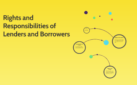 Rights And Responsibilities Of Lenders And Borrowers By Robert