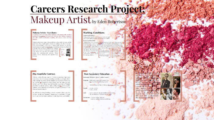 Careers Research Project Makeup Artist