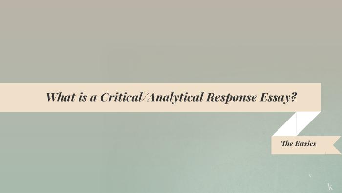analytical response