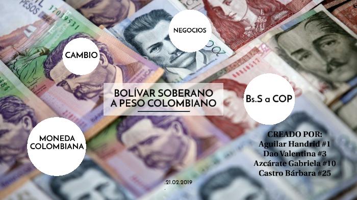 Cambio De Moneda Con El Peso Colombiano