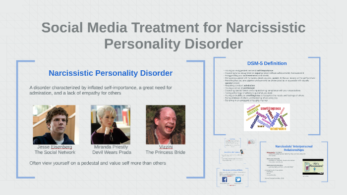 Social Media Treatment for Narcissistic Personality Disorder by