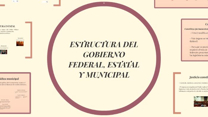 Estructura Del Gobierno Federal Estatal Y Municipal By