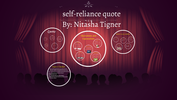 Self Reliance Quote Project By Nitasha Tigner On Prezi
