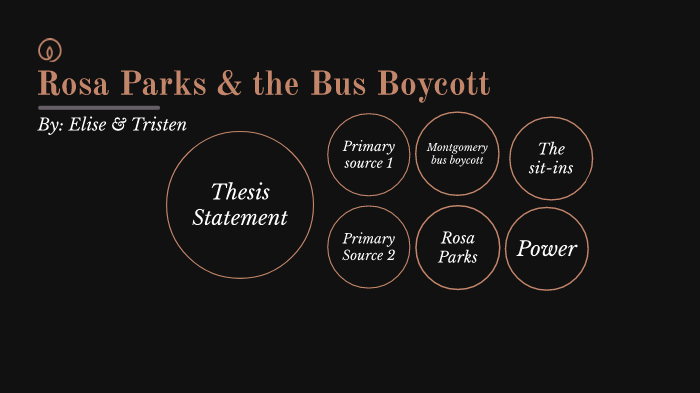 Good thesis statements about rosa parks custom problem solving editor services for college