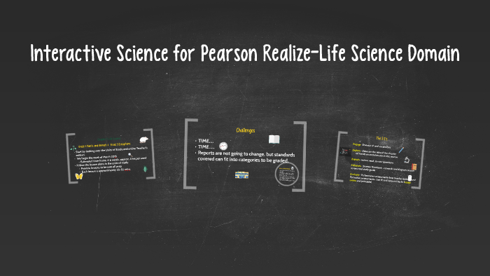 Interactive Science for Pearson Realize-Life Science Domain