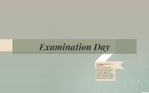 examination day henry slesar questions