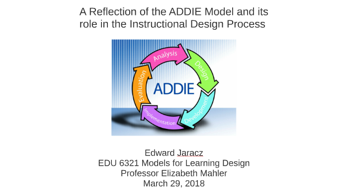 A Reflection of the ADDIE MODEL Upon Instructional Design by