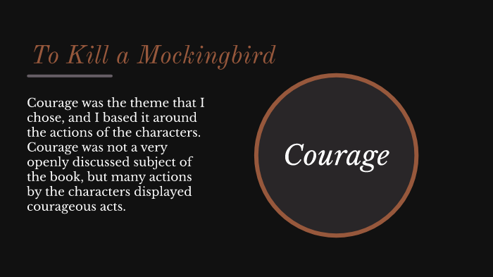 the theme of courage in to kill a mockingbird