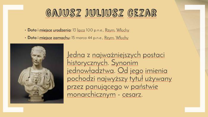Gajusz Juliusz Cezar By Adrian Dobrowolski On Prezi