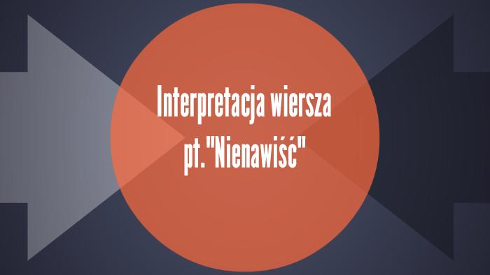 Interpretacja Wiersza Ptnienawiść By Jakub Olkrzycki On Prezi