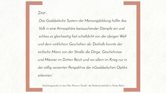 3 Reich Inwiefern Hat Goebbels Durch Kriegspropaganda Das