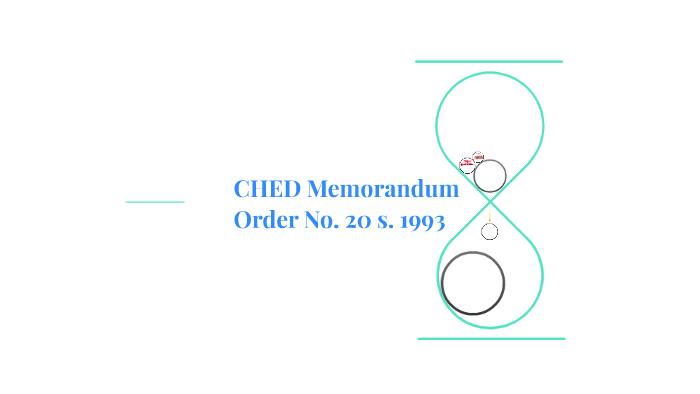 CHED Memorandum no  20 s  1193 by edriane villaflor on Prezi