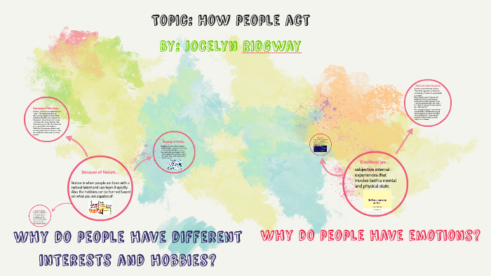 Why do people have different interests and hobbies? by