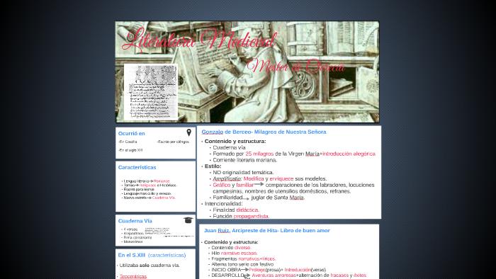 Literatura Medieval By Curro Venta On Prezi