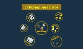 Criterios operativos