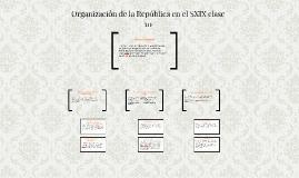 Organización de la República en el SXIX