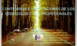 Copy of Copy of CONTENIDOS E IMPLICACIONES DE LOS CODIGOS DE ETICA PROFESIONALES