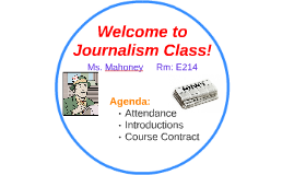 Welcome to Journalism Class!