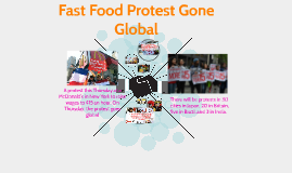 Fast Food Protest Gone Global