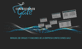 Copy of MANUAL DE CARGOS Y FUNCIONES DE LA EMPRESA CONFECCIONES GALE
