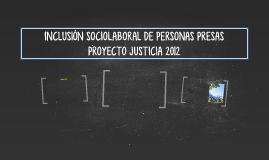 INCLUSIÓN SOCIOLABORAL DE PERSONAS PRESAS