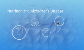 Nutrition and Alzheimer's Disease