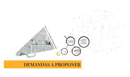 DEMANDAS A PROPONER