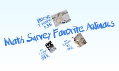 Math Survey Favorite Animals