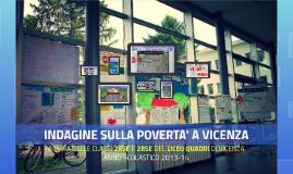 INDAGINE SULLA POVERTA' A VICENZA