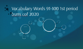 Vocabulary Words 91-100 1st period bsms cof 2020