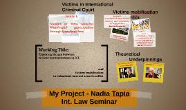 My Project - N. Tapia - 19 Mars - Int. Law Seminar