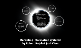 Marketing information systems!