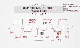 REGISTRO CIVIL: UM DIREITO ASSEGURADO?