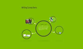 Writing Survey Items